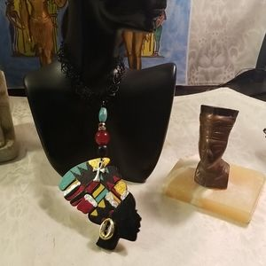 Jewelry - Black simulated African queen tattoo choker